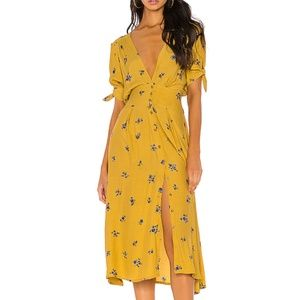 NWT Faithfull the Brand Billie Midi Dress